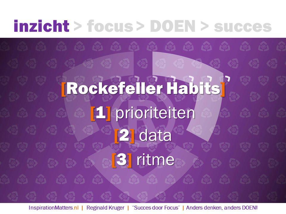 inzicht > focus > DOEN > succes [Rockefeller Habits]